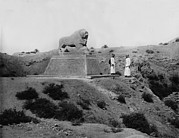 Iraq Prints - Babylon, Basalt Lion, Iraq, Circa 1932 Print by Everett