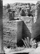 Iraq Prints - Babylon, The Ishtar Gate, Iraq, Circa Print by Everett