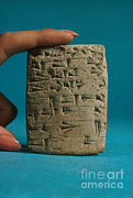 Babylonian Photos - Babylonian Clay Tablet by Science Source