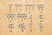 Babylonian Photos - Babylonian Cuneiform Numerals by Sheila Terry