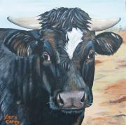 Cows Paintings - Babys Baby by Laura Carey