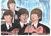 Beatles Pastels Metal Prints - Babys in black Metal Print by Moshe Liron