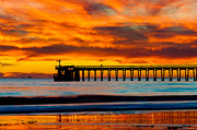 Eyal Prints - Bacara Haskell Beach and pier Santa Barbara  Print by Eyal Nahmias