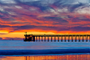 Eyal Prints - Bacara Haskells Beach and pier Santa Barbara  Print by Eyal Nahmias