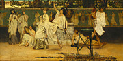 Drunk Metal Prints - Bacchanal Metal Print by Sir Lawrence Alma-Tadema