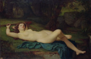 Relaxed Framed Prints - Bacchante Framed Print by Pierre Honore Hugrel