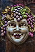 Red Lips Acrylic Prints - Bacchus God of Wine Acrylic Print by David Smith