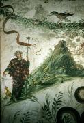 Vineyards Photos - Bacchus, Roman God Of Wine, Stands by O. Louis Mazzatenta