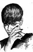 Rihanna Drawings Originals - Back Again by Anshu Kaulitz