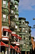 Patterson House Prints - Back Bay Brownstones Print by Jerry Patterson