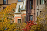 Townhouses Prints - Back Bay Brownstones Print by Susan Cole Kelly