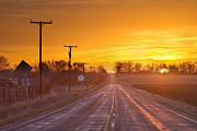 Country Roads Photos - Back Country Road Sunrise  by James Bo Insogna