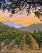 Napa Valley Vineyard Paintings - Back Country Splendor by Patrick ORourke