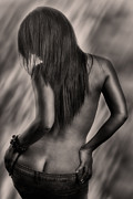 Nude Fine Art Framed Prints - Back Framed Print by Exposed Arts