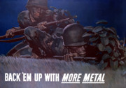 United States Propaganda Metal Prints - Back Em Up Metal Print by War Is Hell Store