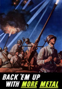 Anti-aircraft Posters - Back Em Up With More Metal  Poster by War Is Hell Store