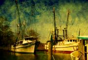 Nautical-boats-ships-waves - Back home in the harbor by Susanne Van Hulst