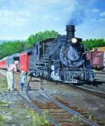 Railroads Paintings - Back In The Day by Jean Peace