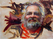 Father Christmas Paintings - Back in Town by Talya Johnson