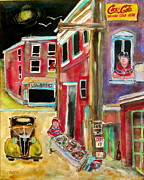 Canadiens Paintings - Back Lane Garage Sale by Michael Litvack