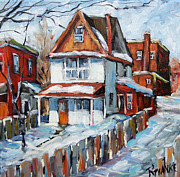 Original  By Artist Paintings - Back Lanes Montreal by Prankearts by Richard T Pranke