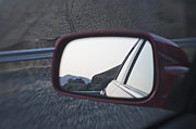 Gravel Road Photos - Back of Car in Mirror by Jetta Productions, Inc