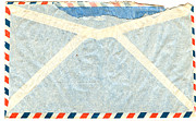 Office Space Digital Art Prints - Back Of Vintage Airmail Envelope Print by Circa