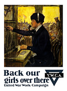Wwi Propaganda Prints - Back Our Girls Over There Print by War Is Hell Store