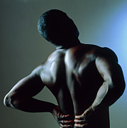 Black Man Prints - Back Pain Print by Damien Lovegrove