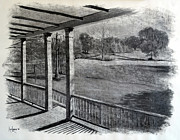 Lafayette Originals - Back Porch at Beau Bassin by Ron Landry