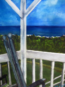 Rocking Chairs Originals - Back Porch at the Beach by Lil Taylor