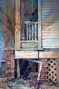 Mjonesart Framed Prints - Back Porch Framed Print by Micheal Jones