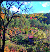 Gatlinburg Tennessee Prints - Back Road Barn Print by Brittany H