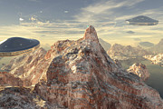 Terragen Posters - Back to Base Poster by H h  Bonaparte