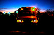 Scary Digital Art - Back To School Bus Nightmare by Andee Photography