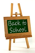 Announcement Prints - Back to School sign Print by Blink Images