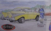 Show Car Drawings - Back to the 50s by Jake Schuur