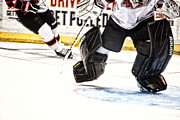 Goaltender Metal Prints - Back To The Crease Metal Print by Karol  Livote