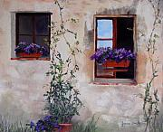 Flower Pastels - Back Window Flowers by Jeanne Rosier Smith