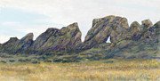 Rock  Pastels - Backbone Looking East by Billie Colson
