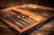 Board Game Photos - Backgammon Board by Michael Garyet