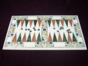 Handcrafted Paintings - Backgammon Board by mohammad Azhar