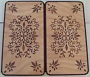 Game Pyrography Originals - Backgammon Game by Steven Steven