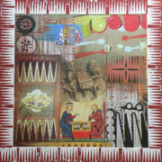Board Game Mixed Media - Backgammon by Leigh Banks