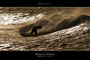 Surf Lifestyle Framed Prints - Backlight Surfing - Maui Hawaii Posters Series Framed Print by Denis Dore