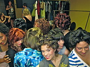 Coiffure Prints - Backstage at the fashion show Print by Sean Griffin