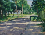 Impressionistic Landscape Paintings - Backstreet by Michael Vires