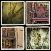 Chairs Mixed Media Framed Prints - Backward Glance Framed Print by Bonnie Bruno