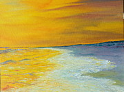 Surfing Art Paintings - Backwash by Conor Murphy