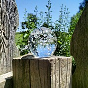 Fantasy Art - Backyard Magic #crystalball #magic by Melissa Wyatt